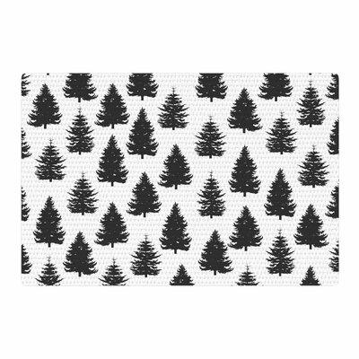 Marta Olga Klara Pine Forest Nature/Black Area Rug Rug Size: 4 x 6