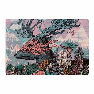 Mat Miller Journeying Spirit (Deer) Fantasy Lavender Area Rug Rug Size: 4 x 6