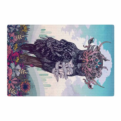 Mat Miller Journeying Spirit (Owl) Fantasy Magenta Area Rug Rug Size: 2 x 3