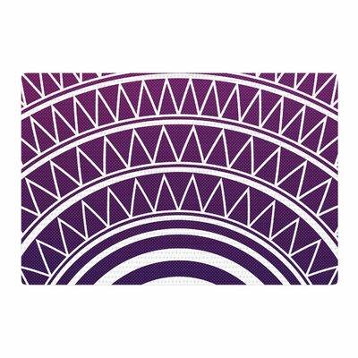 Matt Eklund Amethyst Portal Purple/White Area Rug Rug Size: 2 x 3