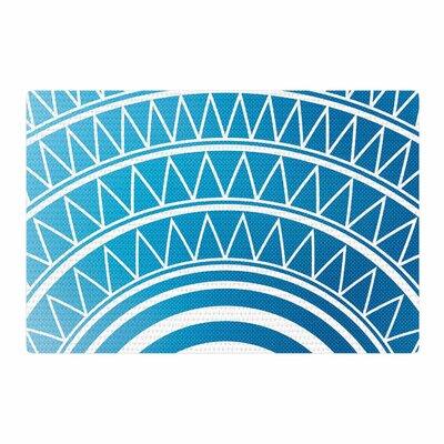 Matt Eklund Azure Portal Blue/White Area Rug Rug Size: 4 x 6