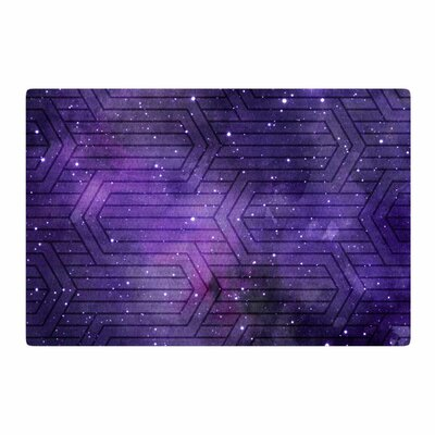 Matt Eklund Cosmic Labyrinth Purple Area Rug Rug Size: 4 x 6