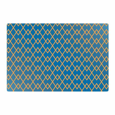 Matt Eklund Down by the Beach Blue/Gold Area Rug Rug Size: 4 x 6