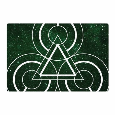 Matt Eklund Emerald City Geometric Digital Green Area Rug Rug Size: 4 x 6