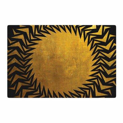 Matt Eklund Gilded Chaos Geometric Gold Area Rug Rug Size: 2 x 3