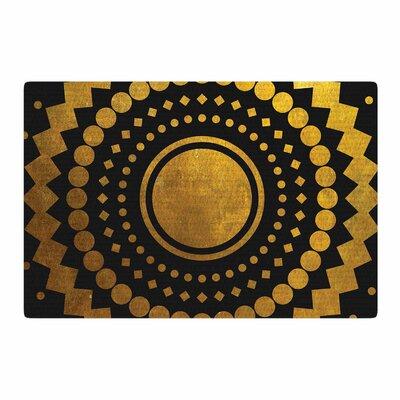 Matt Eklund Gilded Confetti Geometric Gold Area Rug Rug Size: 2 x 3