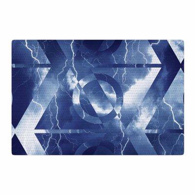 Matt Eklund Hurricane Blue/White Area Rug Rug Size: 4 x 6