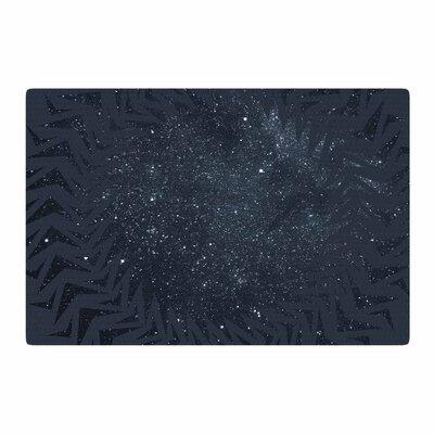 Matt Eklund Lunar Chaos Celestial Blue Area Rug Rug Size: 2 x 3