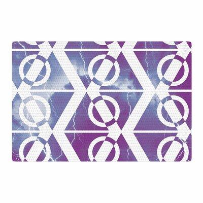 Matt Eklund Mana Storm Purple/White Area Rug Rug Size: 2 x 3
