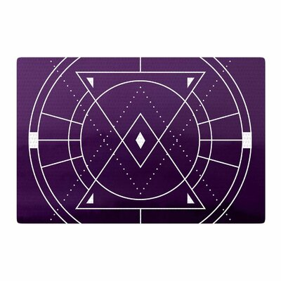 Matt Eklund Mystic City Digital Purple Area Rug Rug Size: 4 x 6