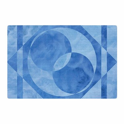 Matt Eklund Geometric Blue Area Rug Rug Size: 4 x 6