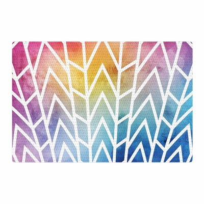 Matt Eklund Shattering Rainbows Abstract Blue/Yellow Area Rug Rug Size: 4 x 6