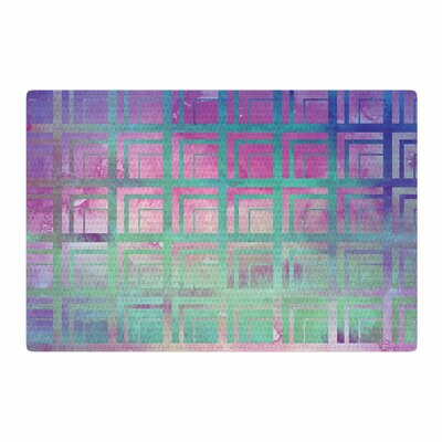 Matt Eklund Tiled Poison Pink/Purple Area Rug Rug Size: 2 x 3