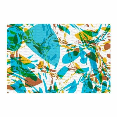 Matthias Hennig Wild Areas Floral Teal Area Rug Rug Size: 2 x 3