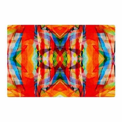 Matthias Hennig Motley Orange/Yellow Area Rug Rug Size: 2 x 3