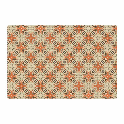 Mayacoa Studio Geometric Tile Orange Area Rug Rug Size: 4 x 6