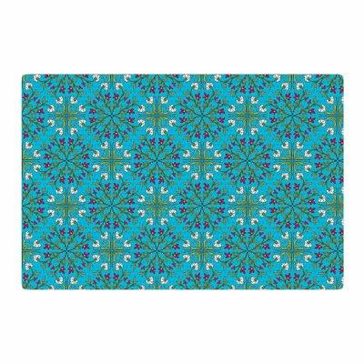 Mayacoa Studio Morrocan Tile Blue Area Rug Rug Size: 4 x 6
