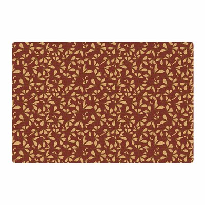 Mayacoa Studio Under the Golden Hour Floral Gold Area Rug Rug Size: 4 x 6