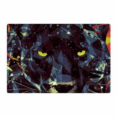 Mayka Ienova Le Noir Pardus Animals Black Area Rug Rug Size: 2 x 3