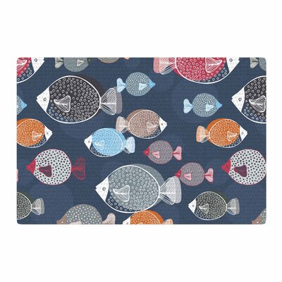Melissa Armstrong Swim School Blue/Red Area Rug Rug Size: 4 x 6