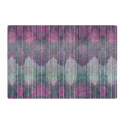 Michelle Drew Vintage Ikat Green/Magenta/Pink Area Rug Rug Size: 4 x 6