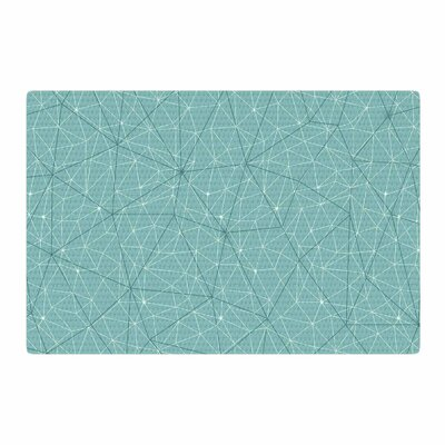 Michelle Drew Wanderlust River Song Geometric Blue Area Rug Rug Size: 4 x 6