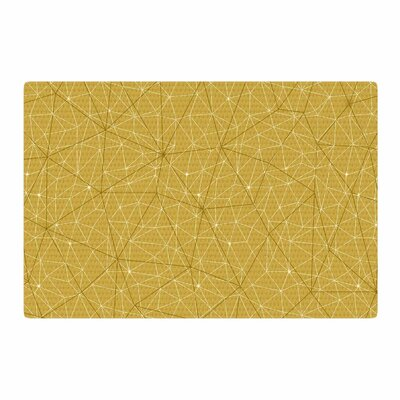 Michelle Drew Wanderlust Hazy Skies Geometric Yellow Area Rug Rug Size: 4 x 6