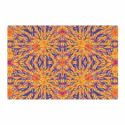 Miranda Mol Azulejo Orange/Blue Area Rug Rug Size: 2 x 3