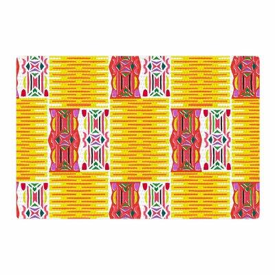 Miranda Mol Cool Summer Gold/Coral Area Rug Rug Size: 2 x 3
