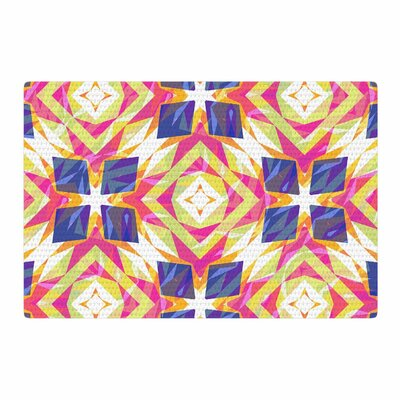 Miranda Mol Dancing Tiles Indigo/Pink Area Rug Rug Size: 4 x 6