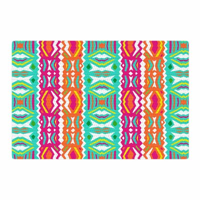Miranda Mol Ethnic Summer Green/Orange Area Rug Rug Size: 2 x 3