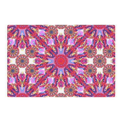 Miranda Mol Kaleidoscopic Floral Pink/Purple Area Rug Rug Size: 2 x 3
