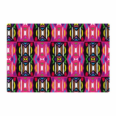 Miranda Mol Lets Party Pink/Black Area Rug Rug Size: 4 x 6