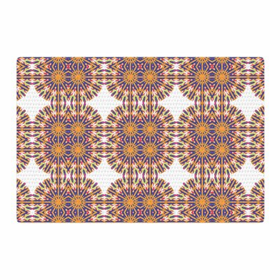 Miranda Mol Ornamental Tiles Orange/Blue Area Rug Rug Size: 2 x 3