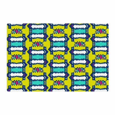 Miranda Mol Party Vibes Yellow/Teal Area Rug Rug Size: 4 x 6