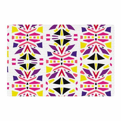 Miranda Mol Summer Mood Yellow/Purple Area Rug Rug Size: 2 x 3
