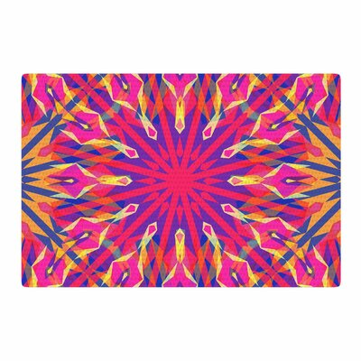 Miranda Mol Whirling Orange/Indigo Area Rug Rug Size: 4 x 6