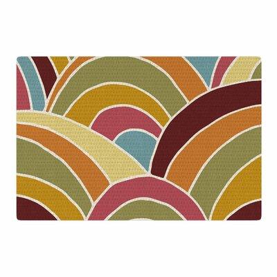 Nacho Filella Arcs Digital Orange Area Rug Rug Size: 4 x 6