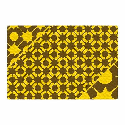 Nacho Filella Pop Vector Yellow Area Rug Rug Size: 2 x 3
