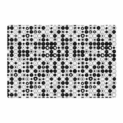 Nandita Singh Funny Polka Dots Abstract White/Black Area Rug Rug Size: 2 x 3