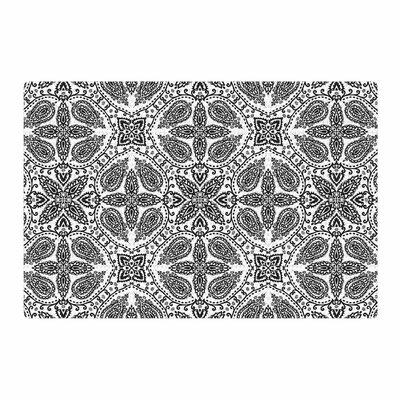 Nandita Singh Boho Black/White Area Rug Rug Size: 4 x 6