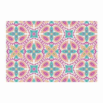 Nandita Singh Boho Pink/Green Area Rug Rug Size: 2 x 3