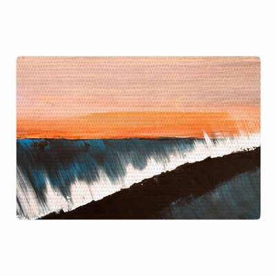 Nathan Gibbs Clean Slate Blue/Orange Area Rug Rug Size: 2 x 3