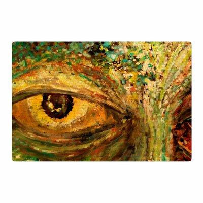 Nathan Gibbs Art Eye of the Storm Green/Yellow Area Rug Rug Size: 2 x 3