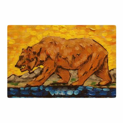 Nathan Gibbs Art For a Public Bear Blue/Red Area Rug Rug Size: 4 x 6