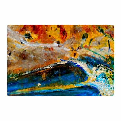 Nathan Gibbs Art The Earth Shows Its End Blue/Orange Area Rug Rug Size: 4 x 6