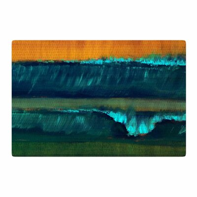 Nathan Gibbs	 Leaf Tea Teal/Blue/Orange Area Rug Rug Size: 2 x 3