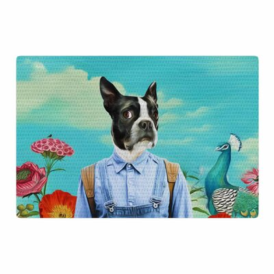 Natt Family Portrait N3 Dog Blue Area Rug Rug Size: 4 x 6