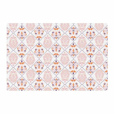 Neelam Kaur Modern Reminiscence White/Pink Area Rug Rug Size: 2 x 3