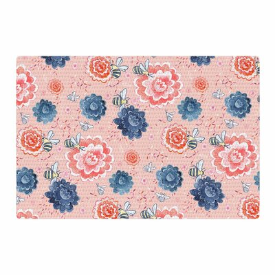 Nic Squirrell Bees Please Floral Pink Area Rug Rug Size: 2 x 3